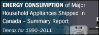 Energy Consumption of Major Household Appliances Shipped in Canada, Trends for 1990–2011