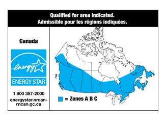 Sample label with map of Canada